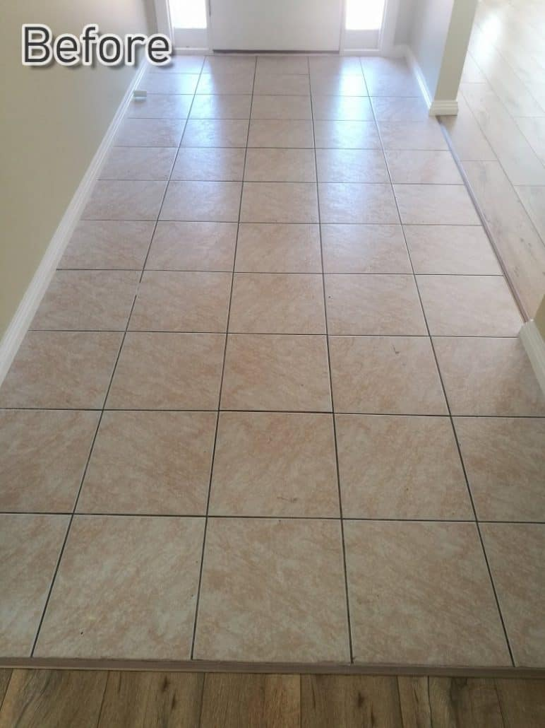 Entrance Tile Cleaning Before Image