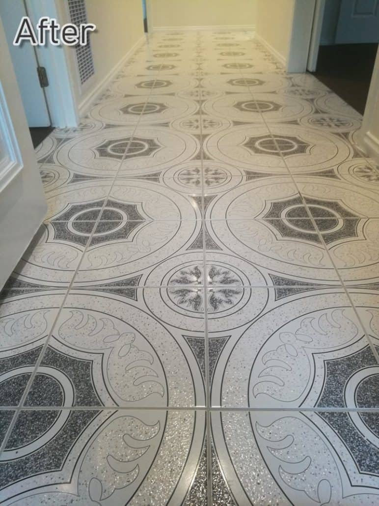 Hallway Tile Cleaning After Image